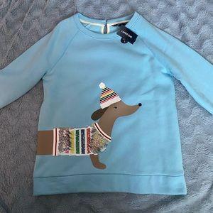 Lands End Sweatshirt with dachshund